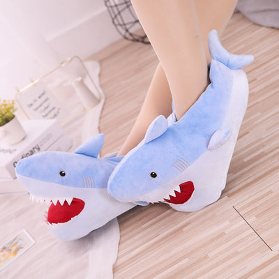 Soft Shark Shape Furry Slippers