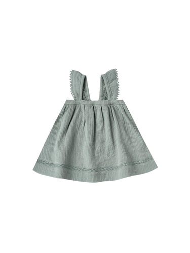 Ruffled Tube Dress-Ocean