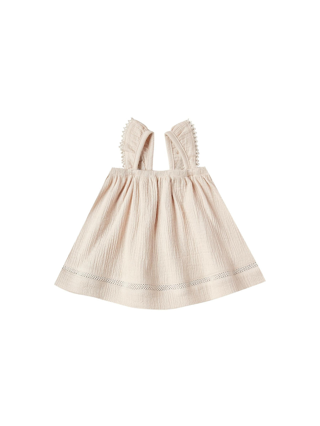 Ruffled Tube Dress-Natural