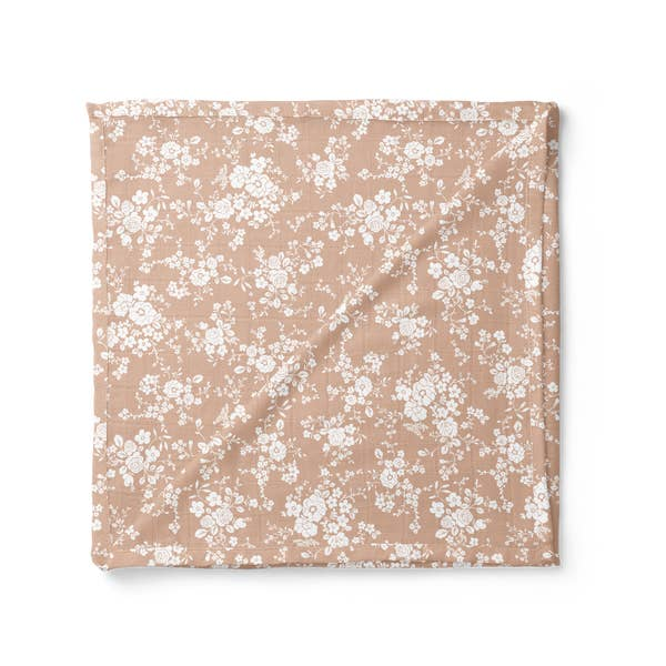 Vintage Bouquet Swaddle Peach