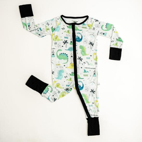 LITTLE SLEEPIES CONVERTIBLE PAJAMA: BLUE/GREEN DINOSAUR