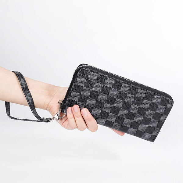 Checkered Wallet, Black