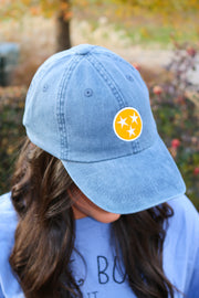 TN Tri Star Hat, Midnight/Orange - Emmaline's