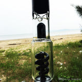 Factory price black color premium spiral conical bottom bong glass water pipe with 17 inches 18mm>14mm female joint (ES-GB-24) MJ - New Dab City