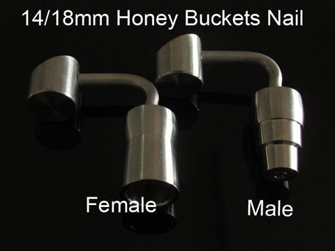 90 degree Honey Bucket Titanium Nail with 14mm &18mm male female joint,highly educated.We also offer glass bong, quartz nail ,titanium nail 420 - New Dab City
