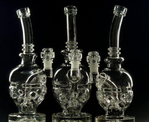 New Glass bong fab egg Bongs original Faberge Egg Water pipe recycler bongs oil rig dabs glass - New Dab City