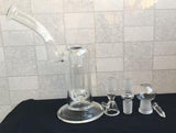 Hand Blown Water Bong  / Dab Rig - 18.8MM Joint  Glass Vase style + Dome & Nail - New Dab City