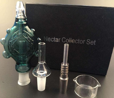 Wearable Nectar Collector Perc Pendant with GR2 14MM Titanium Nail & Quartz Nail oil rig mini glass bong spillproof Concentrate Pipe - New Dab City
