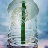 STARBUCKS Glass Oil Rig Dabuccino w Dome and Nail - New Dab City