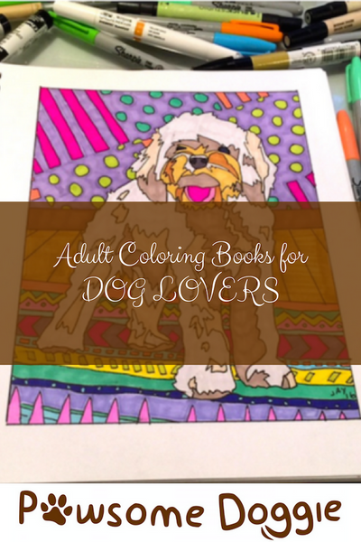 Dog Lover Adult Coloring Book Creator – Pawsome Doggie