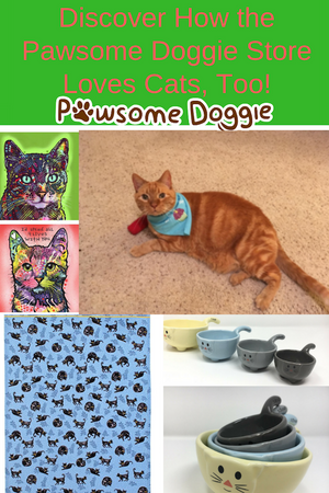 Even Though We're Pawsome Doggie, We Love Cats and Kitties, Too