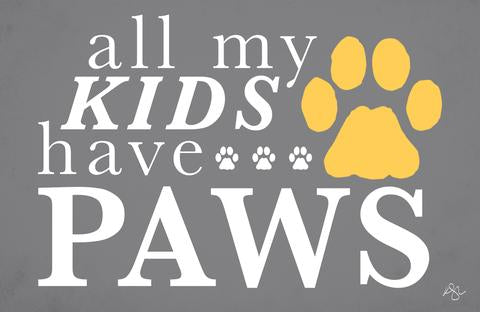 all my kids have paws dog doormat