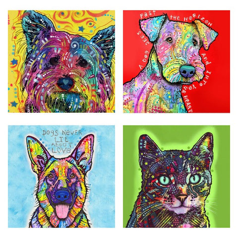artist dean russo dog art cat paintings