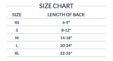 dog football jersey sizes