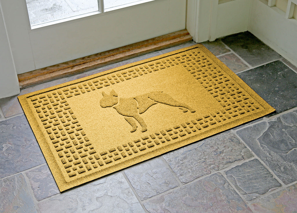boston terrier dog doormat