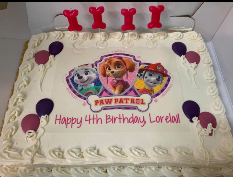 dog bone birthday candles pink paw patrol