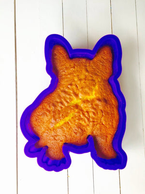 French Bulldog Boston Terrier Birthday Cake Pan