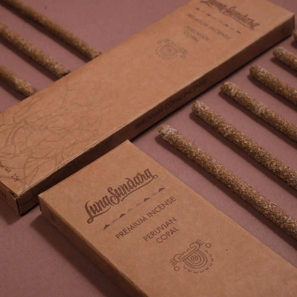 Premium Grey Copal Hand Rolled Incense Sticks from 100% Wild Peruvian Copal