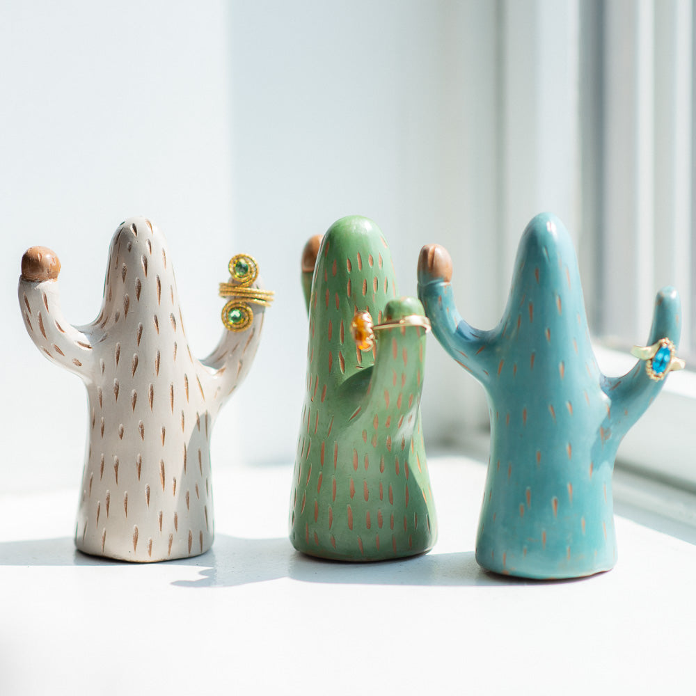 Chulucanas Ceramic Cactus (Set of 3) - Luna Sundara