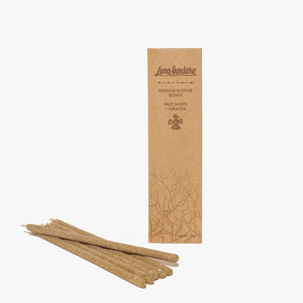Premium Palo Santo & Wiracoa Hand Rolled Incense Sticks