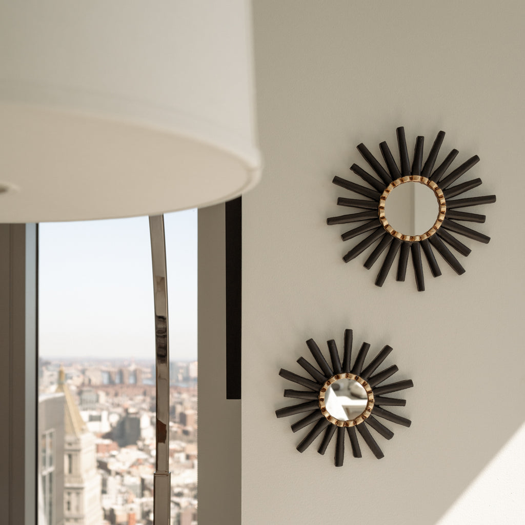 Peruvian Wall Mirror - Black Sunburst