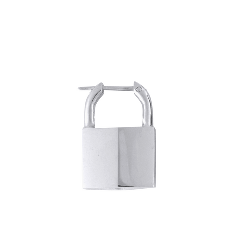 SMALL PADLOCK EARRING STERLING SILVER