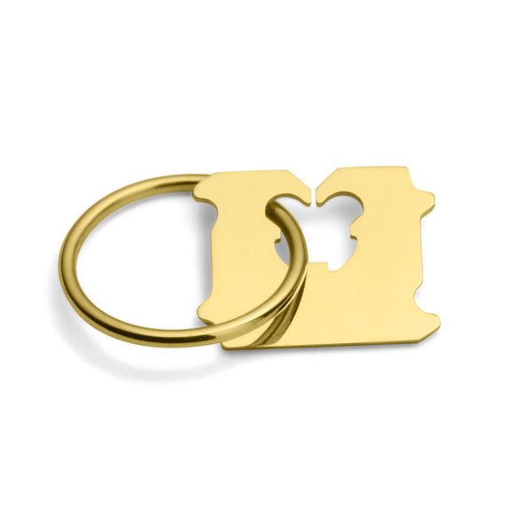 14K GOLD BREAD CLIP RING