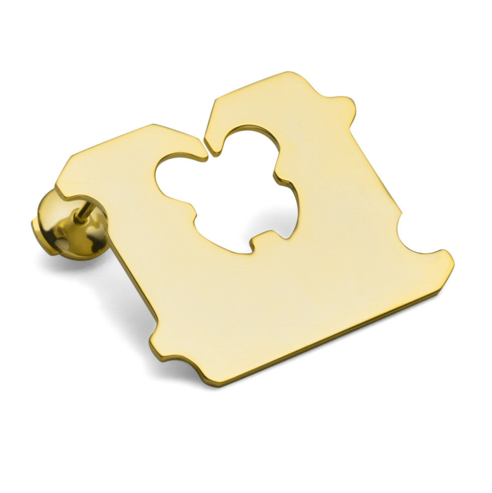 14K GOLD BREAD CLIP EARRING