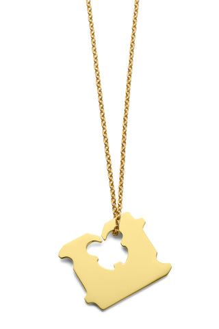 14K GOLD BREAD CLIP NECKLACE