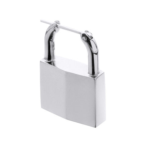 PADLOCK EARRING WHITE GOLD