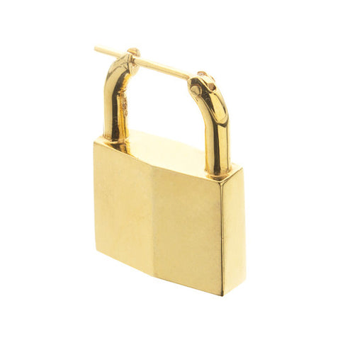PADLOCK EARRING YELLOW GOLD