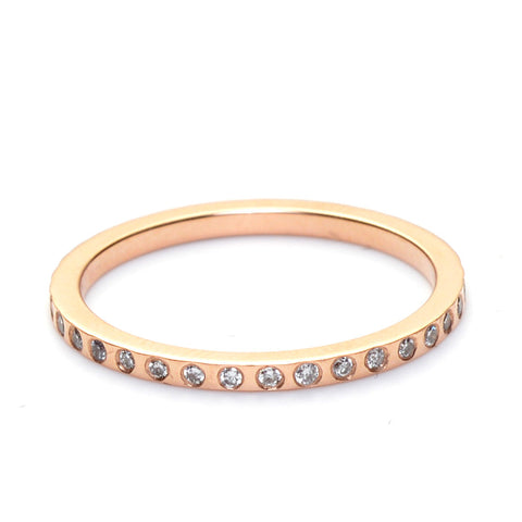 14K ROSE GOLD SKINNY DIAMOND BAND