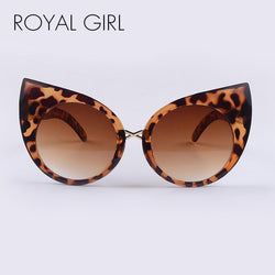 ROYAL GIRL Women Cat Eye Sunglasses Vintage Acetate Shades Gradient Round Lens ss316