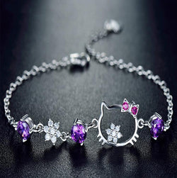 Crystal Bracelets for Women Jewelry 100% Real 925 Sterling