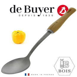 SPOON STAINLESS STEEL WOODEN BBOIS HANDLE \2701.01-C3223
