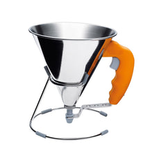 KWIK mini stainless steel piston funnel - 0.8 L- ORANGE \3353.30-C3229