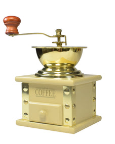 LAQUERED WOOD COFFEE GRINDER CREAM COLOR 100 ML STORAGE \ 69041