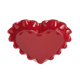 Ruffled Heart Pie Dish (Burgundy) \ 346177 -B1