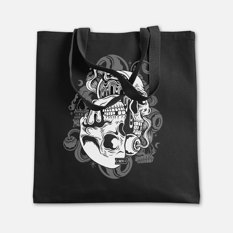 "Melodic Virtue ""Psych Skull"" Canvas Tote"