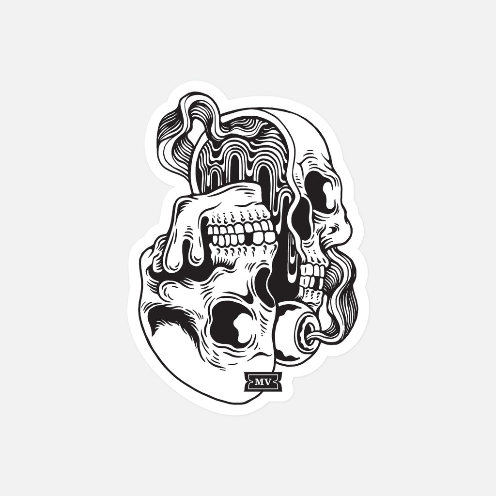 "Melodic Virtue ""Psych Skull"" Sticker (Pack of 5)"