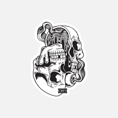 "Melodic Virtue ""Psych Skull"" Sticker"
