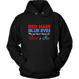 Red Hair Blue Eyes Hoodie & Tees - Redhead Holiday Special
