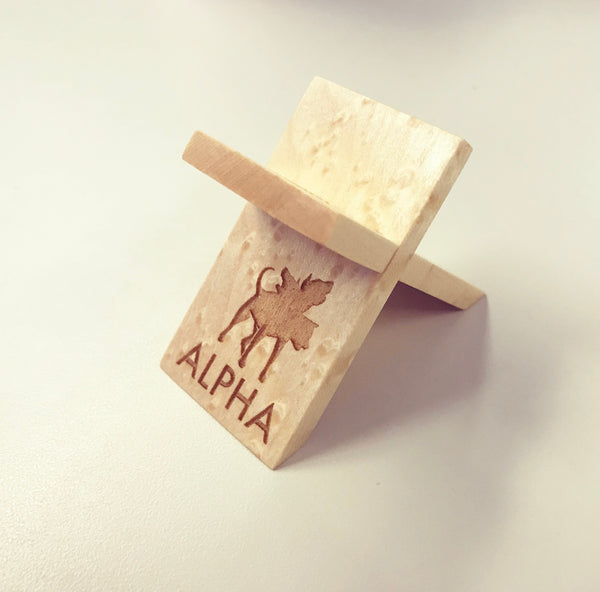 Alpha Logo Engraved Cigar Rest