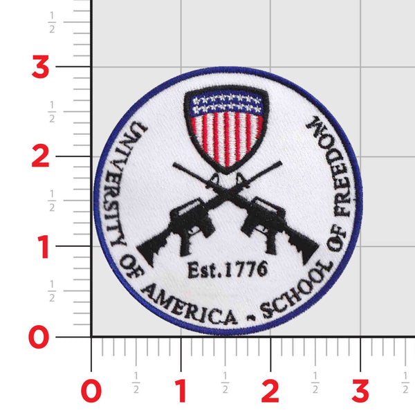 University of America-  School of Freedom Embroidered Patch (3 inches)