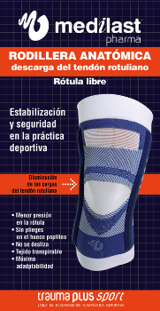 Rodillera de descarga del tendón rotuliano con estabilizador flexible - Medilastshop