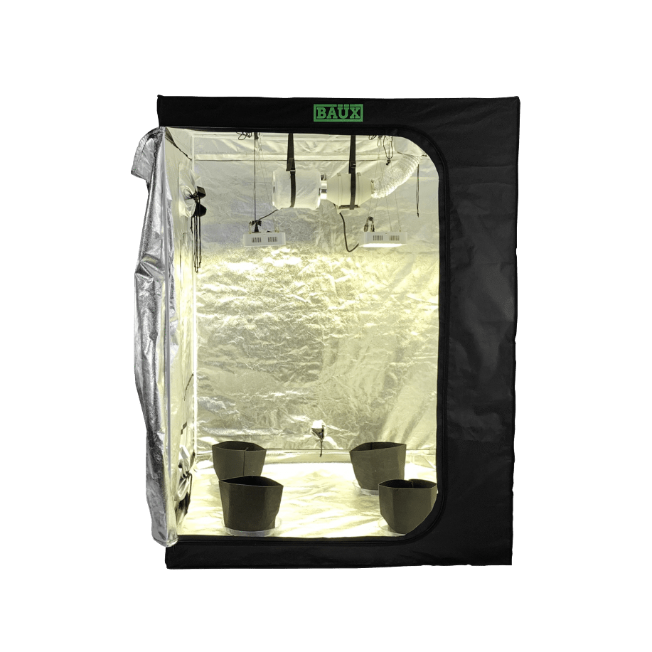 Baüx Industries 5' x 5' Hydroponics Grow Tent Kit - Trimleaf Canada