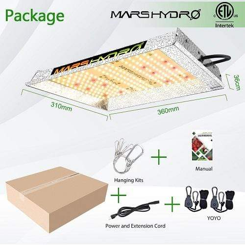 Mars Hydro TS 600 Led Plant Grow Lights - Trimleaf Canada