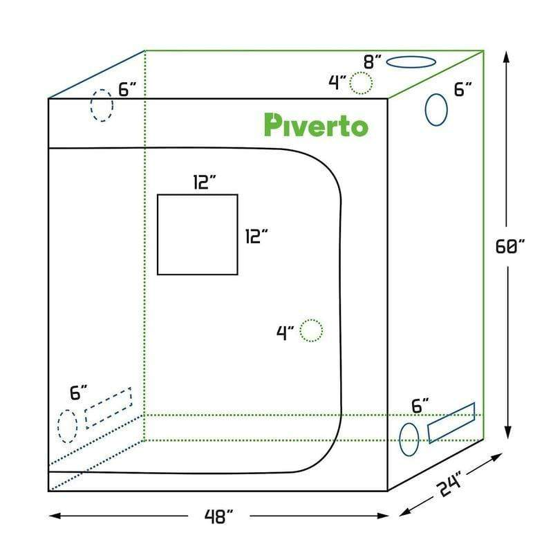 Piverto Piverto 2'X4' Indoor Grow Tent