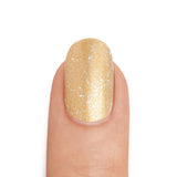 Real Gold Nail Polish with Silver Top Coat- MINE Luxury Nail Lacquer