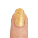 Real 24K Gold Nail Polish with Gold Leaf Top Coat- MINE Luxury Nail Lacquer